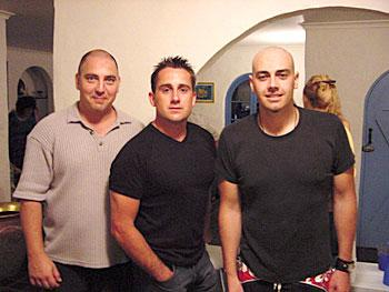 From left to right: John James, Duncan Phillips, Peter Furler. (Year 2000)